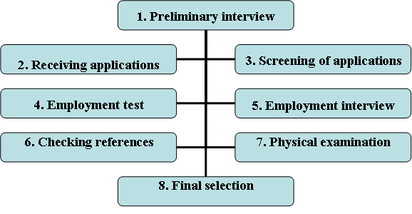 selection process steps